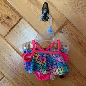 NWT Mermaid Swimsuit 3-6 Month Girl Pink Scales